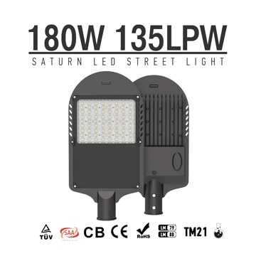 180W LED Street & Rural Roadway Lighting - 60mm Arm Smart Parking Lot Outdoor landscape LED Lights