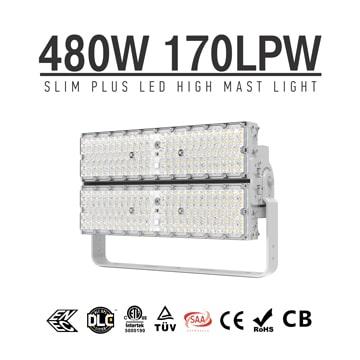 480W 600W Pole Mount Outdoor 6500k LED Lights | High Efficiency 170Lm/W energy savings LED Lighting