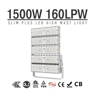 LED High Pole Flood Light High Power Outdoor 1500w, 240000Lumens 6500K IP66 Waterproof