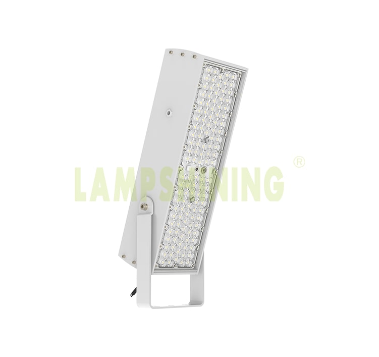 200W 240W 300W LED Flood Light - 100-277V Brecket Rotatable Grey Aluminum Fin Lightweight 7kg Anti Glare Light
