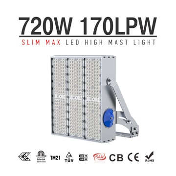 720W 900W LED High Pole Light, Oil Field, Industrial, Outdoor Flood LED Lighting
