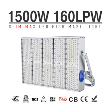 1500W High Power Outdoor LED High Pole Lighting for Tower, Tunnels, Velodrome,Soccer field