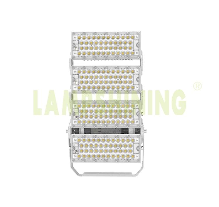 400W 480W Light Tower Light Fixtures - 100-277V 10kg Dimmable Aluminum Fin Bracket Module Flood Light