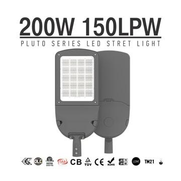 Aluminium 200 Watt LED Street Light 30000LM - Commercial Outdoor 100-277VAC Security  Lighting