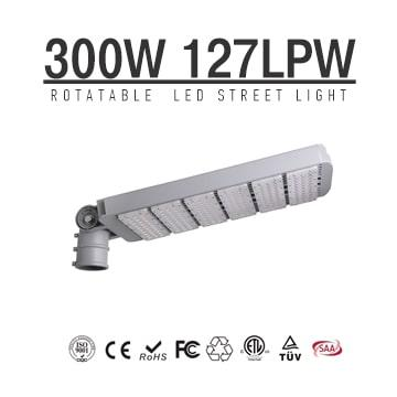 High power 300W LED Street Light Heads, Module Rotatable 270 degree,38000 Lumen DLC Roadway Lighting