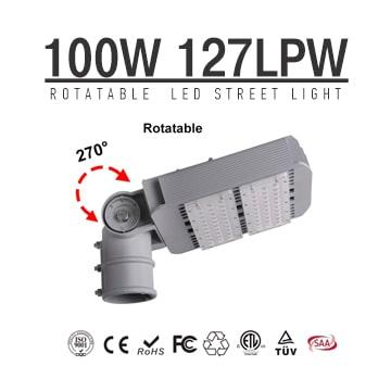 100W Arm Rotatable LED Street Lights 12700LM SMD 3030 180-277VAC Road Lighting
