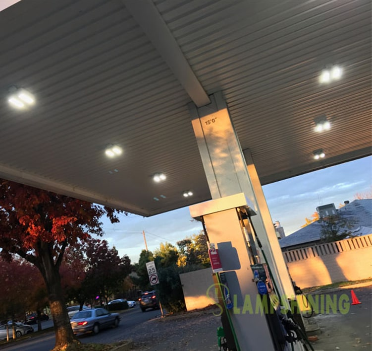 100W Gas Station LED Canopy Luminaire,12500 LM