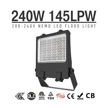 IP66 LED Flood Light Fixtures 240w SMD5050 DC48V Equivalent 500W HPS