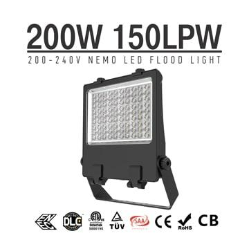 High power LED Flood Light 200W, IP66 Wateproof Commercial Outdoor Stadium Sportlights