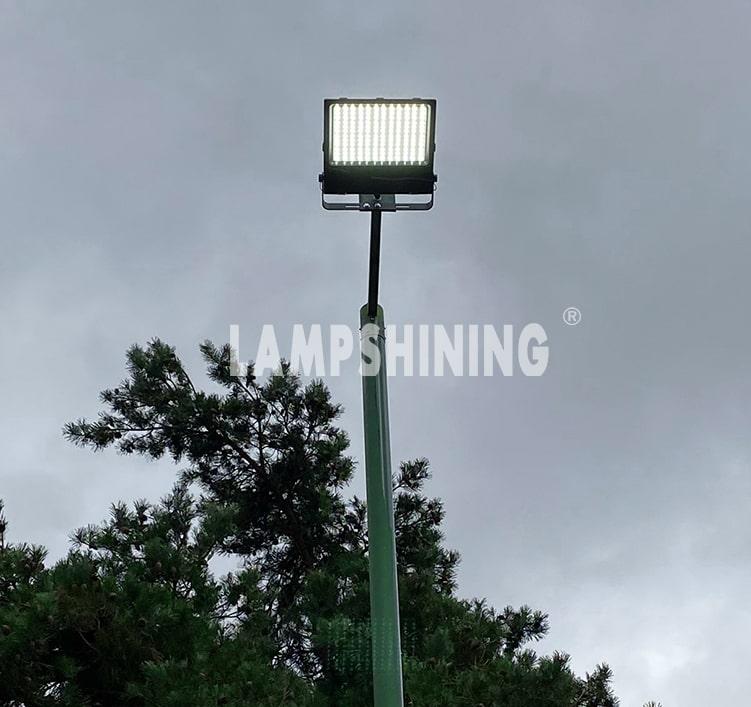 IP66 LED Flood Light Fixtures 240w SMD5050 DC48V Equivalent 500W HPS