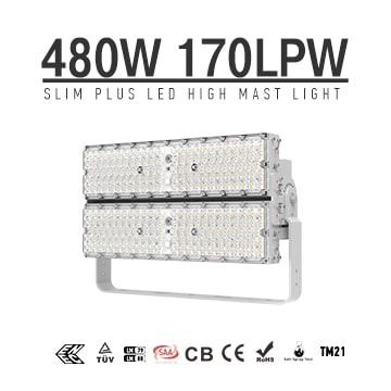 480W 600W Pole Mount Outdoor 6500k LED Lights | High Efficiency 170Lm/W energy savings LED Lighting