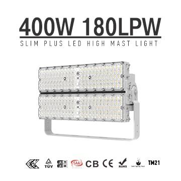 400W 72000Lm High Lumens 180Lm/W LED Lights, High Mast, High Pole, Flood Light