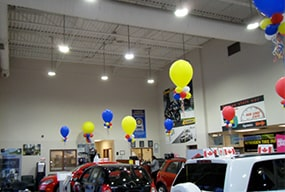 High Bay Lighting 100W LED Retrofit for Indoor Auto Sales Center