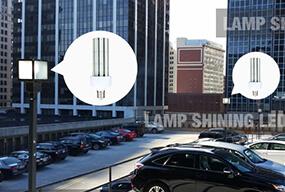 3000K LED Corn Bulb for Outdoor Parking lot Lighting retrofit