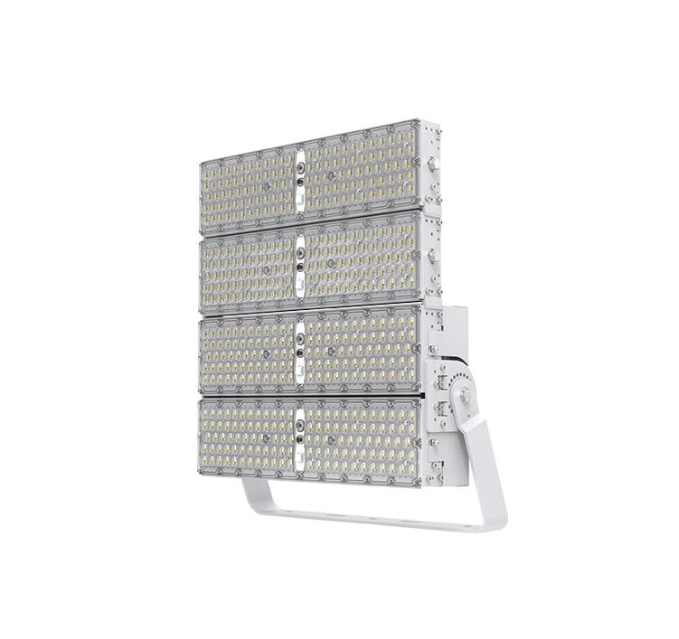 800W 144000 Lumens LED High Pole Flood area lights, 2000W Metal Halide Equal