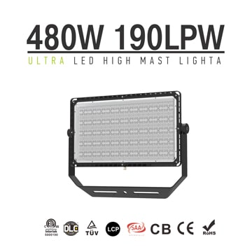 480W 91200Lm 190Lm/W Energy-saving LED Sport Light | Flood Light, High Pole Area Lighting