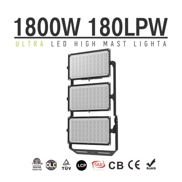 1800W LED Sport Light, High Mast Light, Stadium Light, Area Light180Lm/W 324000LM