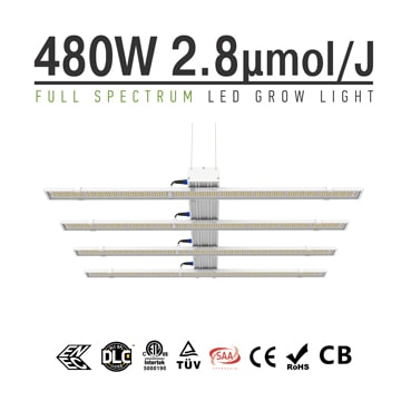 LED Veg/Bloom Light 480W - Full Spectrum LED Veg Grow Light, Replace 1000W HPS