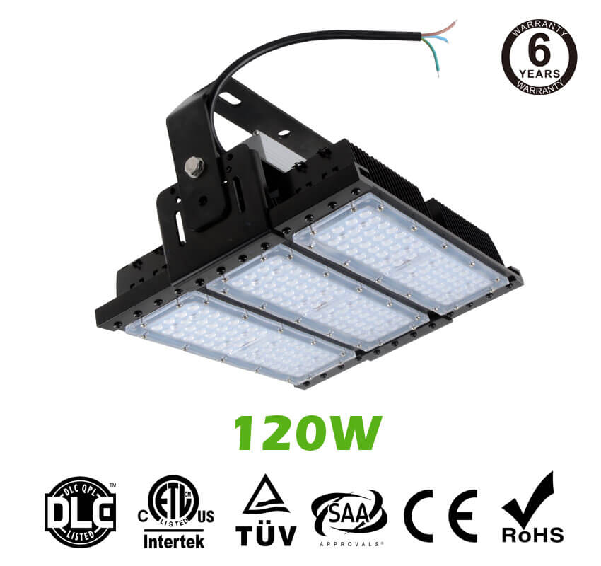 120W LED Flat High Bay Light 16000 Lumen Equivalent 300W HID/Metal Halide Light