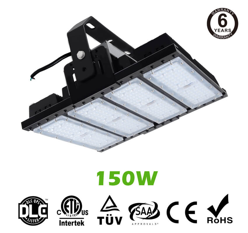 150W LED Flat High Bay Light 20000 Lumen Equivalent 400W HID/Metal Halide Light