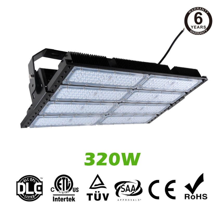 320W LED Flat High Bay Light 42500 Lumen Equivalent 750W HID/Metal Halide Light
